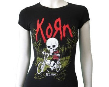 Korn Women's Fitted Rock Band