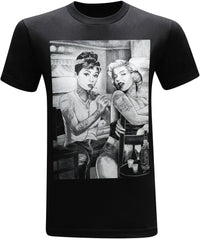 California Republic Marilyn Monroe and Audrey Hepburn Tattooed Twins Men's T-Shirt - tees geek