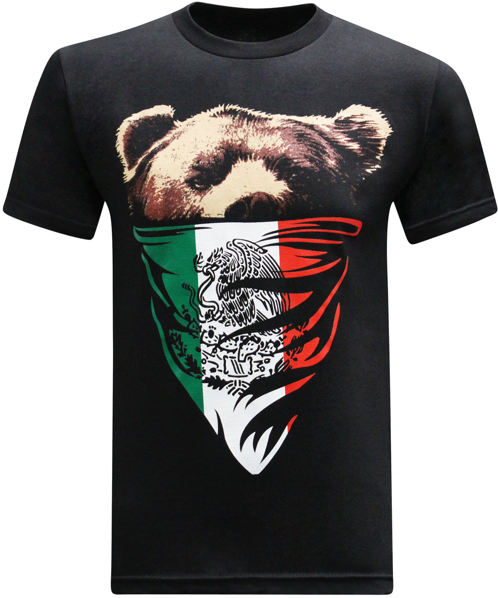 california republic mexican flag bandana bear u2013 tees geek