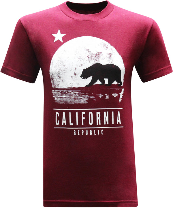 California Republic Moonwalk Men's T-Shirt - tees geek