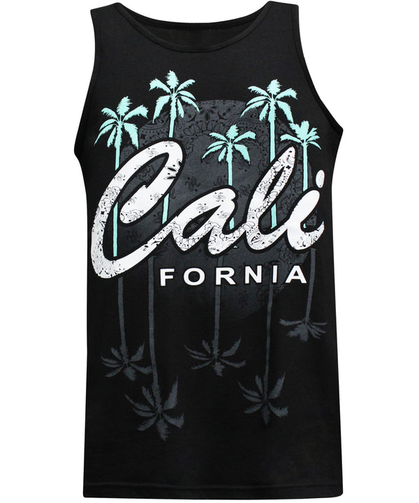 California Republic Nights in the West Men's Muscle Tee Tank Top T-Shirt - tees geek