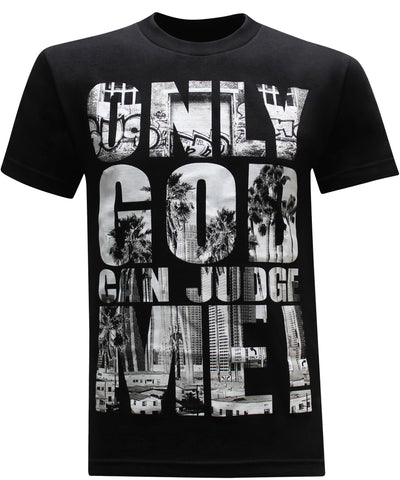 California Republic Only God Can Judge Me Men's T-Shirt - tees geek