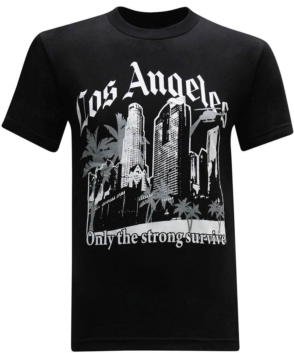 California Republic Los Angeles Only the Strong Survive Men's T-Shirt - tees geek