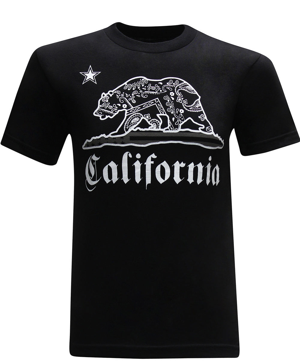 California Republic Paisley Bear Men's T-Shirt - tees geek