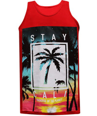 California Republic Stay Cali - Tank Red