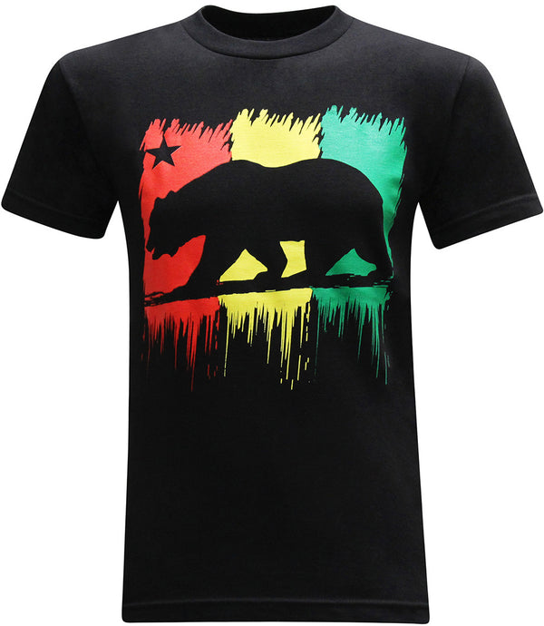 California Republic Red Yellow Green Men's T-Shirt - tees geek