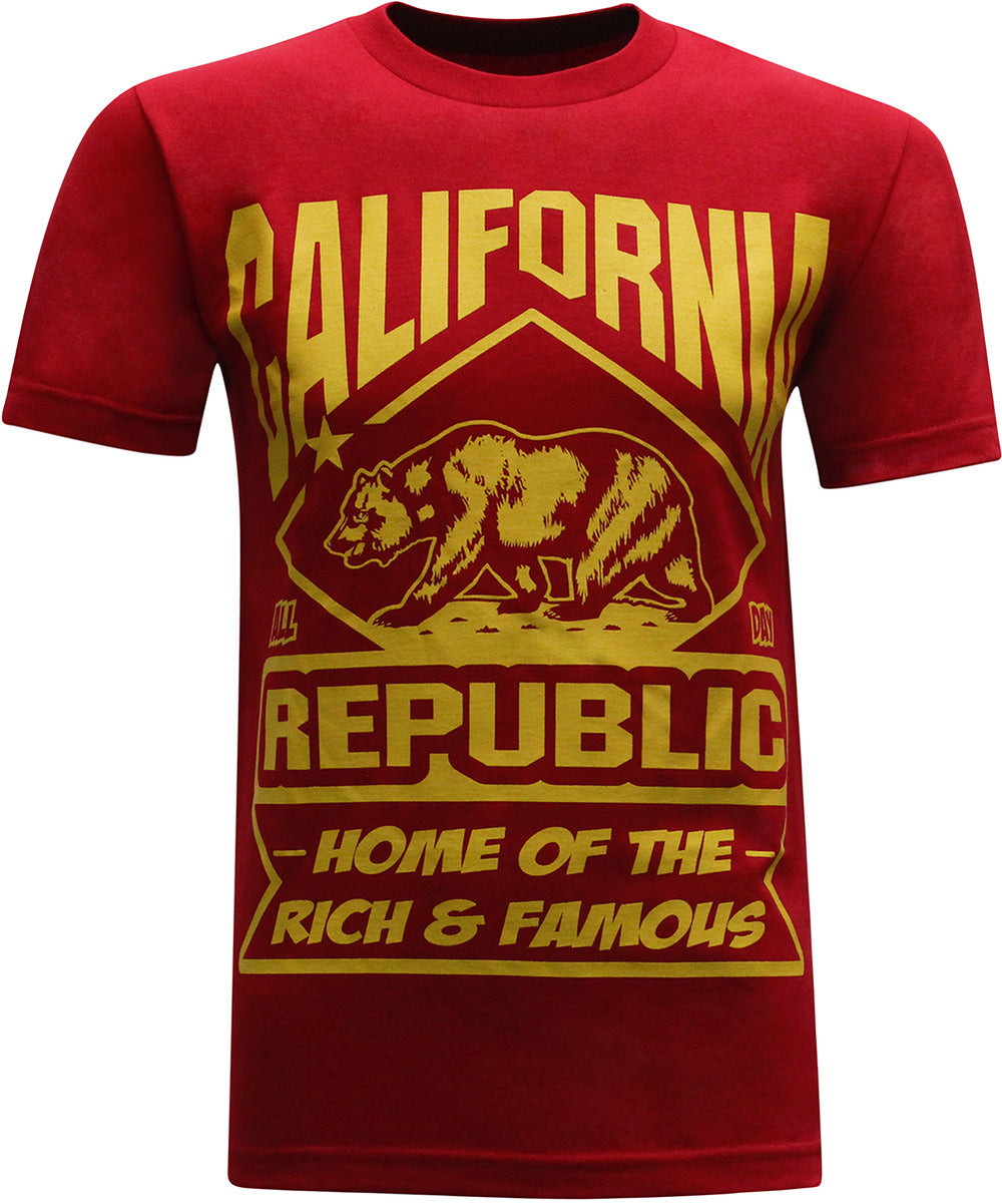 California Republic Rich and Famous Men's T-Shirt - tees geek