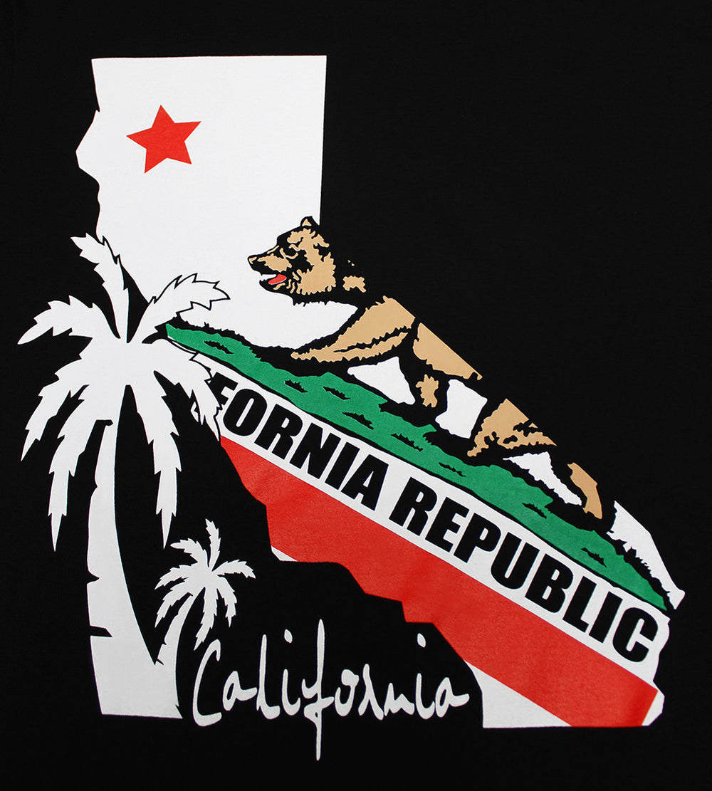 California Republic State Bear Men's T-Shirt - tees geek