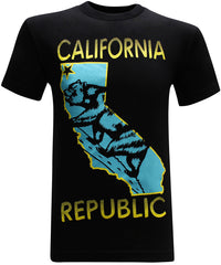 California Republic State Bear Turquoise Men's T-Shirt - tees geek