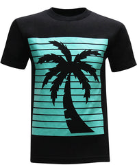 California Republic Turquoise Palm Men's T-Shirt - tees geek