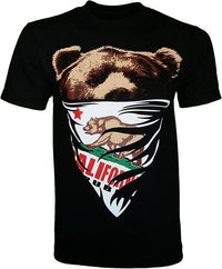 California Republic White Bandana Bear Men's T-Shirt - tees geek