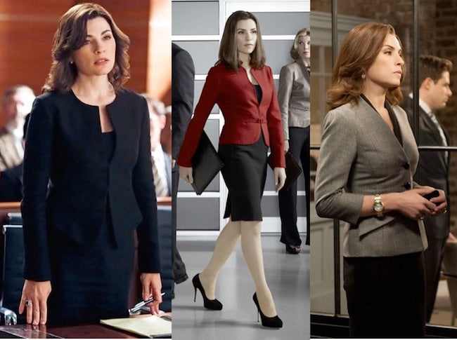 pantsuit, the good wife, alicia florrick, suits, skirt
