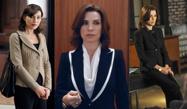 alicia florrick, pantsuit, evolution alicia florrick, the good wife