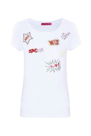Camiseta Graffitis blanco