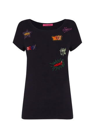 Camiseta Graffitis negro