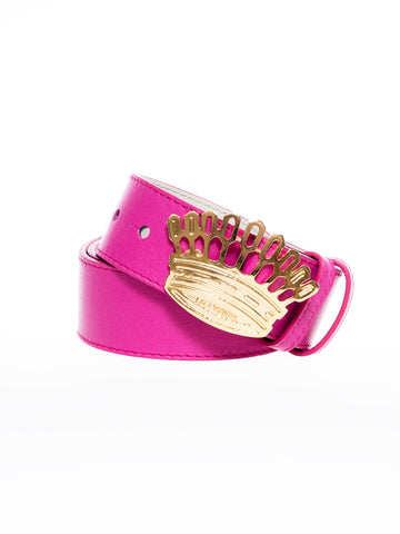 Cinturón corona magenta  | Crown belt -purple-