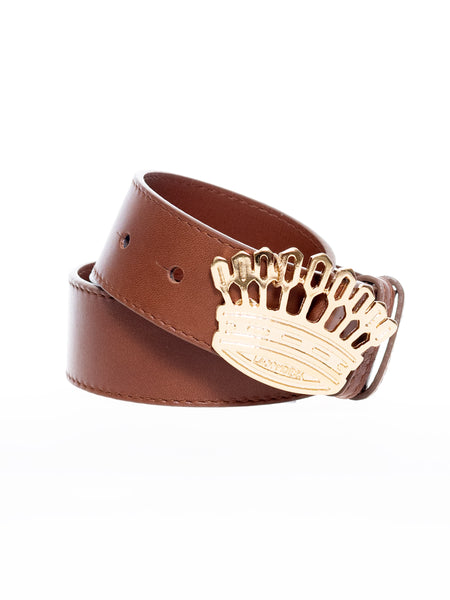 Cinturón corona tierra  | Crown belt -brown-