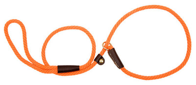 "Small Slip Lead 3/8"" X 4' - Orange - Northwest Hunting Dogs Supply"