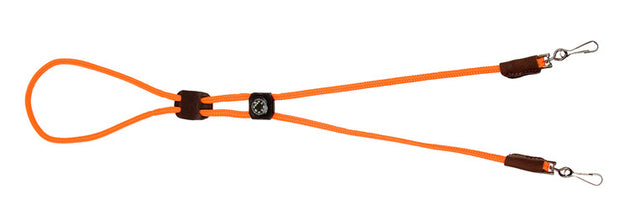 Whistle Lanyard - Double w/Compass - Orange