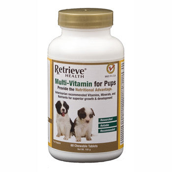 Retrieve Multi-Vitamin for Pups - 60 Tablets - Northwest Hunting Dogs Supply
