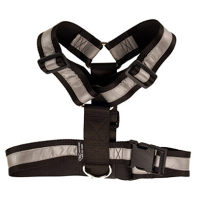 Heavy Duty Tracking Harness - Black w/Reflective (One Size Fits All)