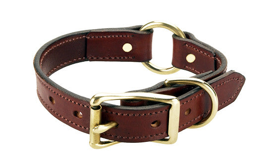 "16 "" Leather O ring Collar - Northwest Hunting Dogs Supply"