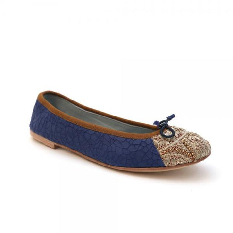 M. Kakalia Bizi Ballet Crackle Blue/Rope Gold