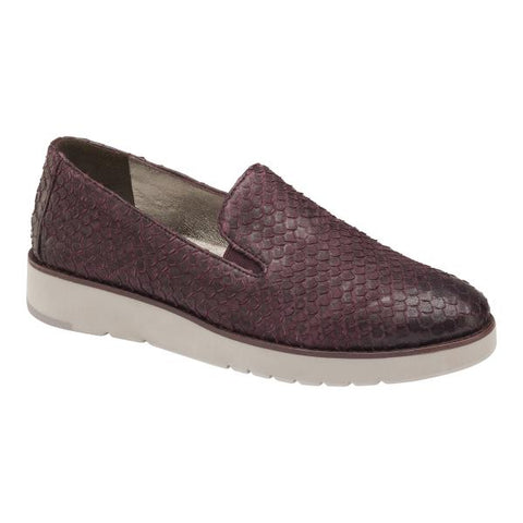 JM Penelope Wine Snake Print Leather