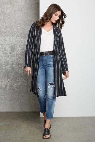 1520 City Trench Coat - Stripe