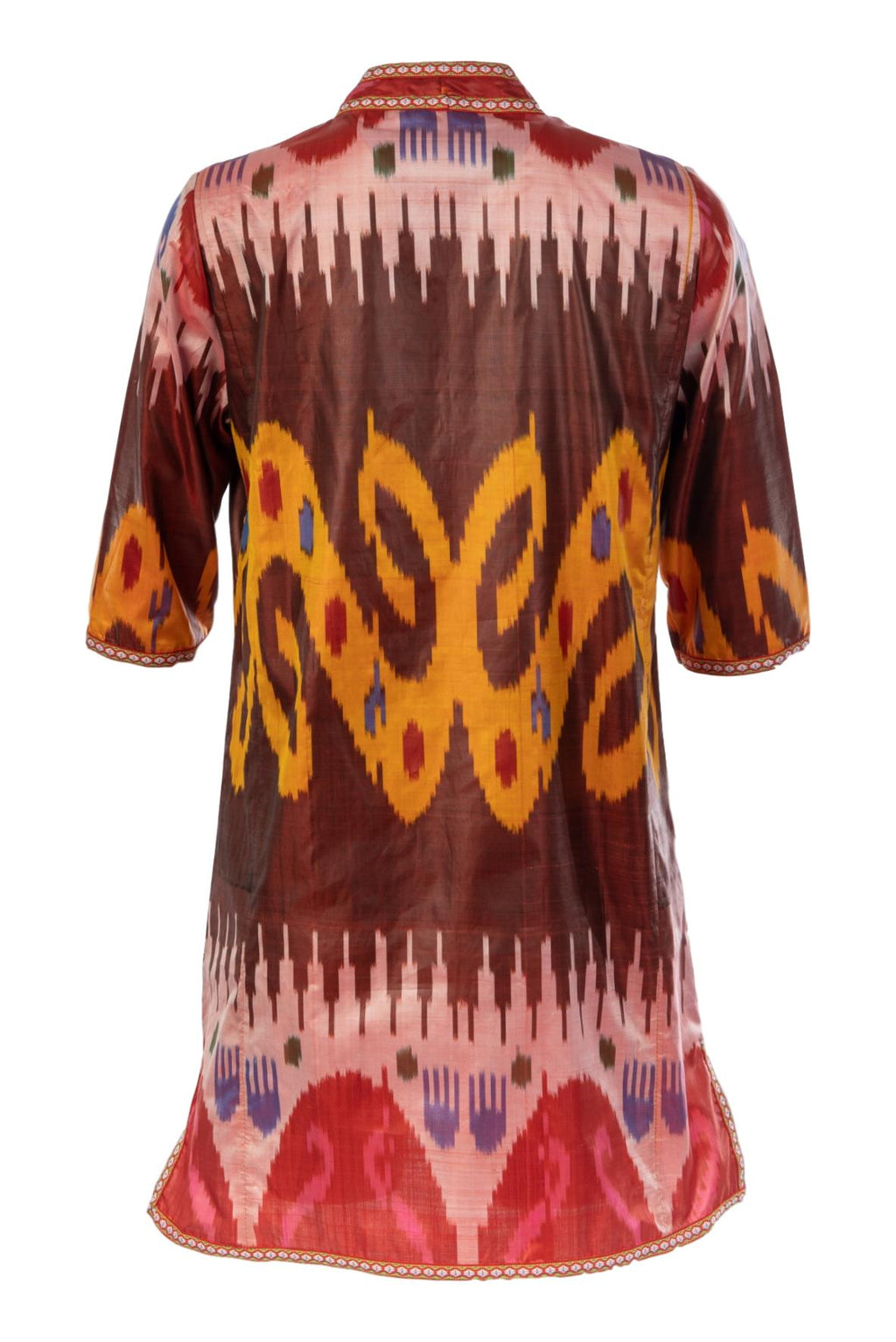 Aragon Silk Ikat Tunic Dress