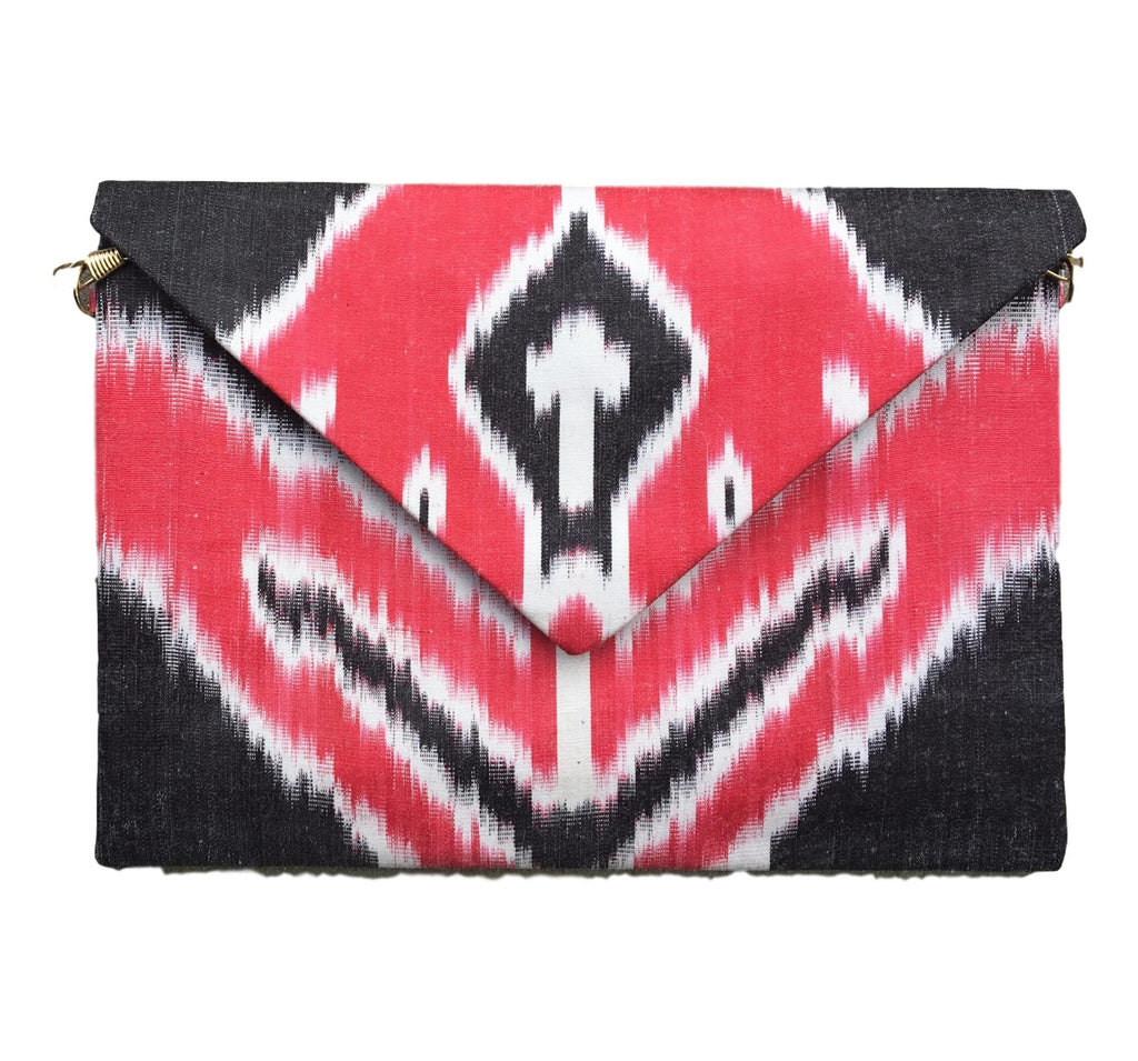 """Athens"" Silk Ikat Envelope Clutch"