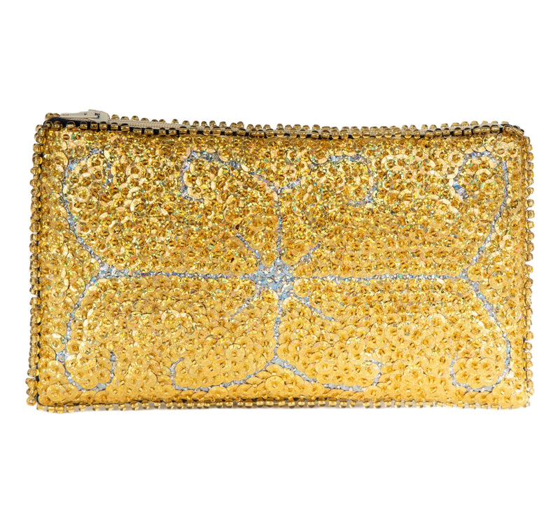 Ayizan Beaded Clutch, Gold and Silver