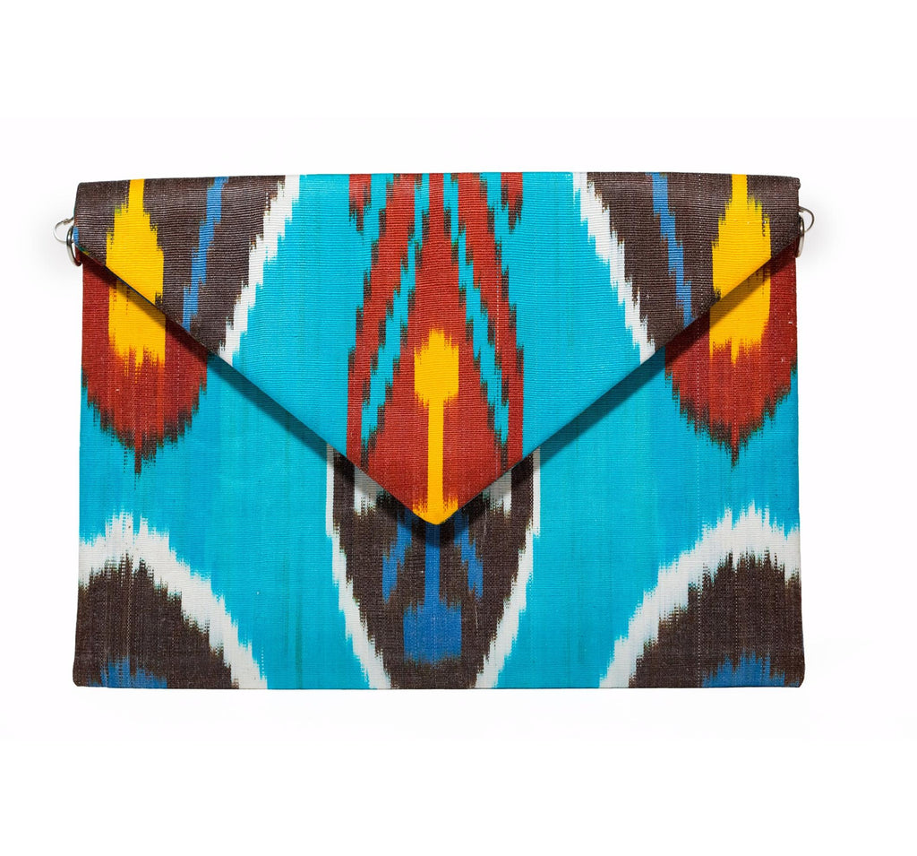 """Corfu"" Silk Ikat Envelope Clutch"