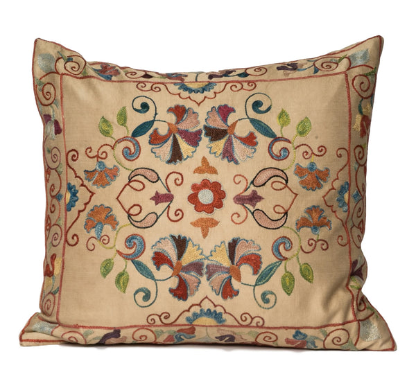 """Darya"" Suzani Pillow"