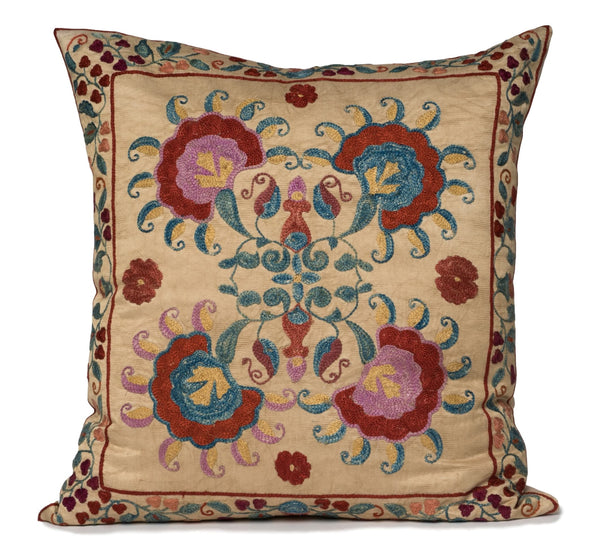 """Adeline""  Suzani Pillow"