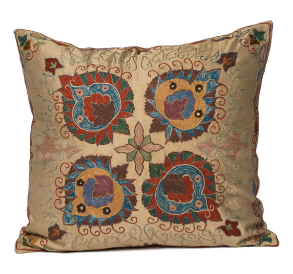 """Campinar"" Suzani Pillow"