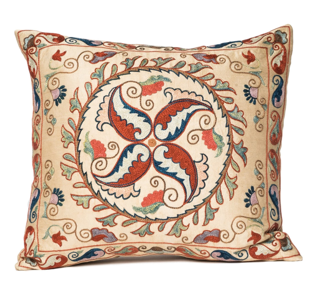 """Fergana"" Suzani Pillow"