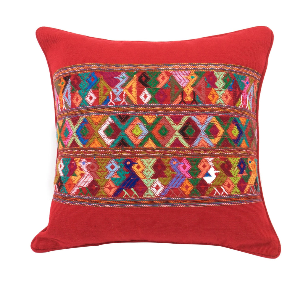 Multi-Colored Guatemalan Pillow