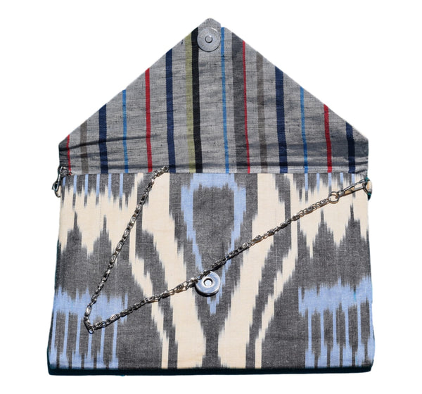 """Kenan"" Silk Ikat Envelope Clutch"