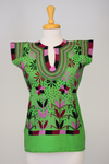 San Lorenzo Mexican Blouse - Green, Purple