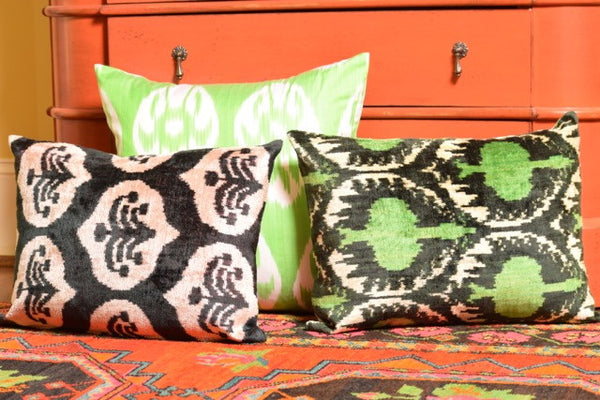 """Biarritz"" Silk Ikat Pillow"