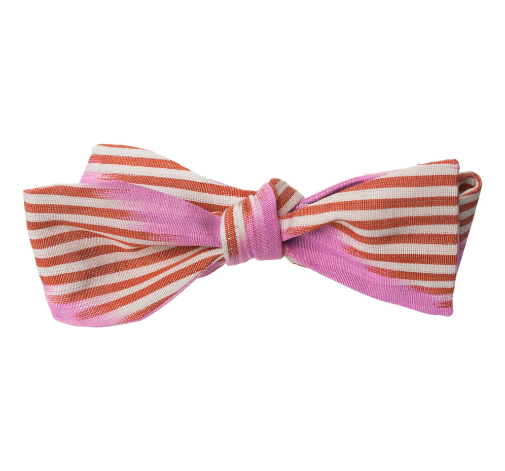 """Darien"" Bow Tie in Silk Ikat, Junior - Pinks and Reds"