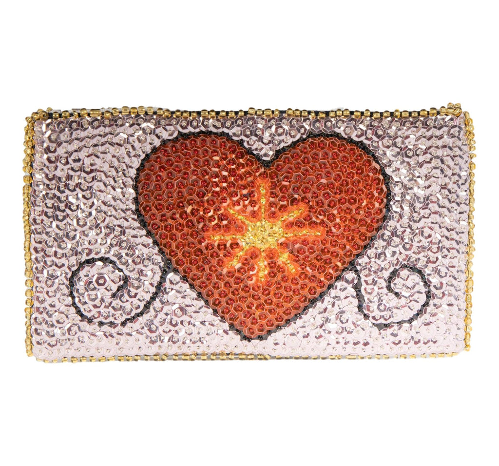 Erzulie Beaded Clutch from Haiti - Lavender, Red