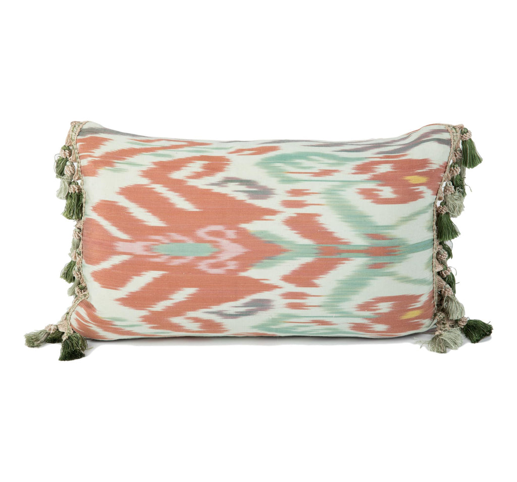 Giverny Silk Ikat Pillow