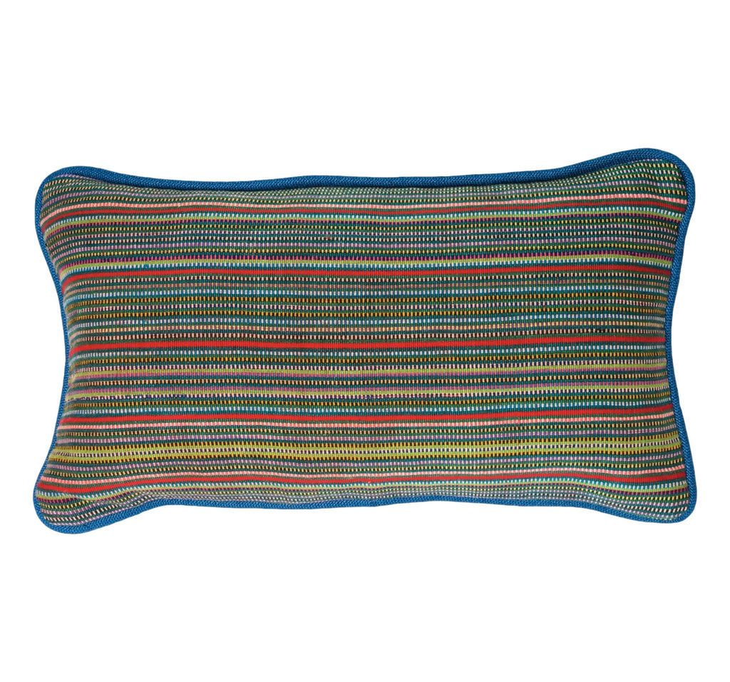 Guatemalan Pillow - FMulti-Color Stripe