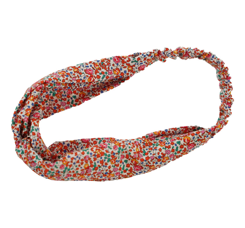 Helen Style Liberty of London Headband - Red, Orange, Pink Mulit