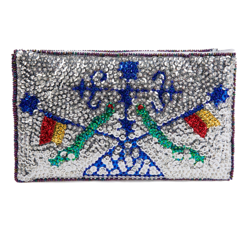 Damballah Beaded Clutch