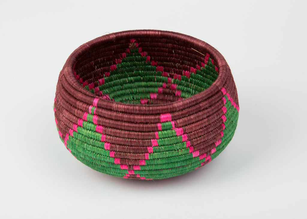 Joy Bowl in Green and Pink