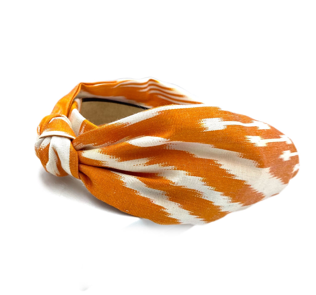 NEW! Wide Band Silk Ikat Headband - Thach Pattern