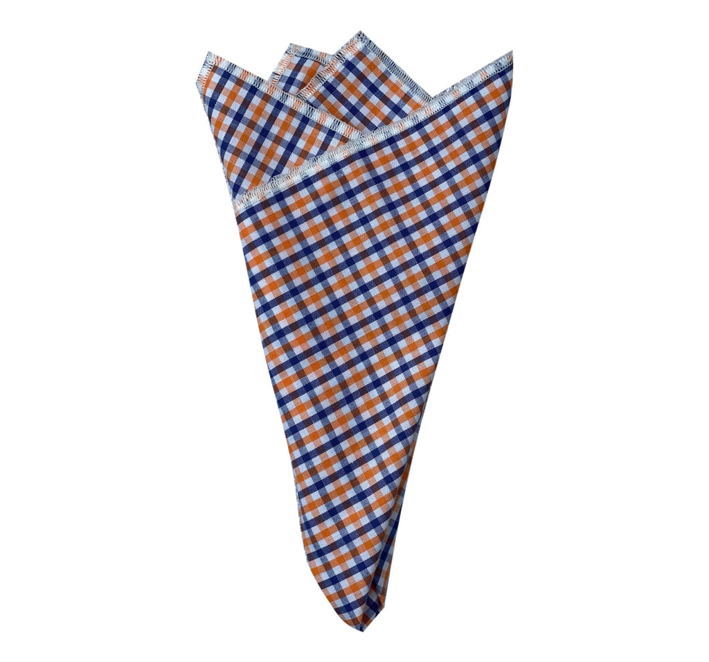 Pocket Square- Blue/Orange